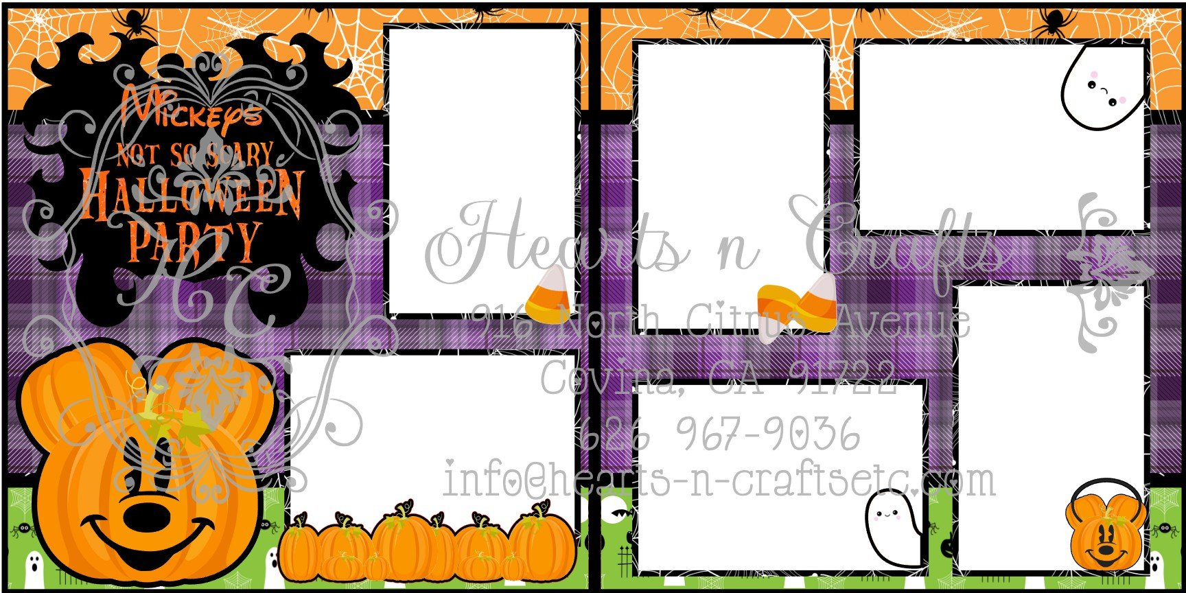 Mickey Halloween 2 Page Layout