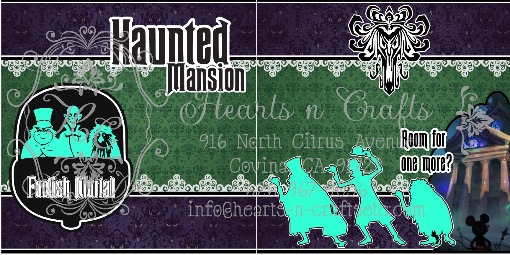 Haunted Mansion 2 Page Layout