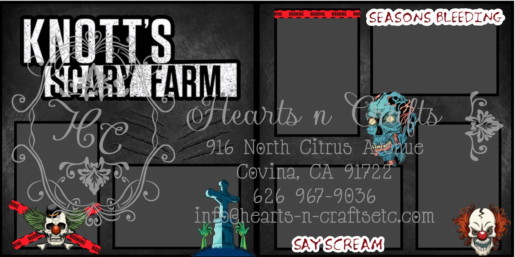 Knotts Scary Farm 2 Page Layout