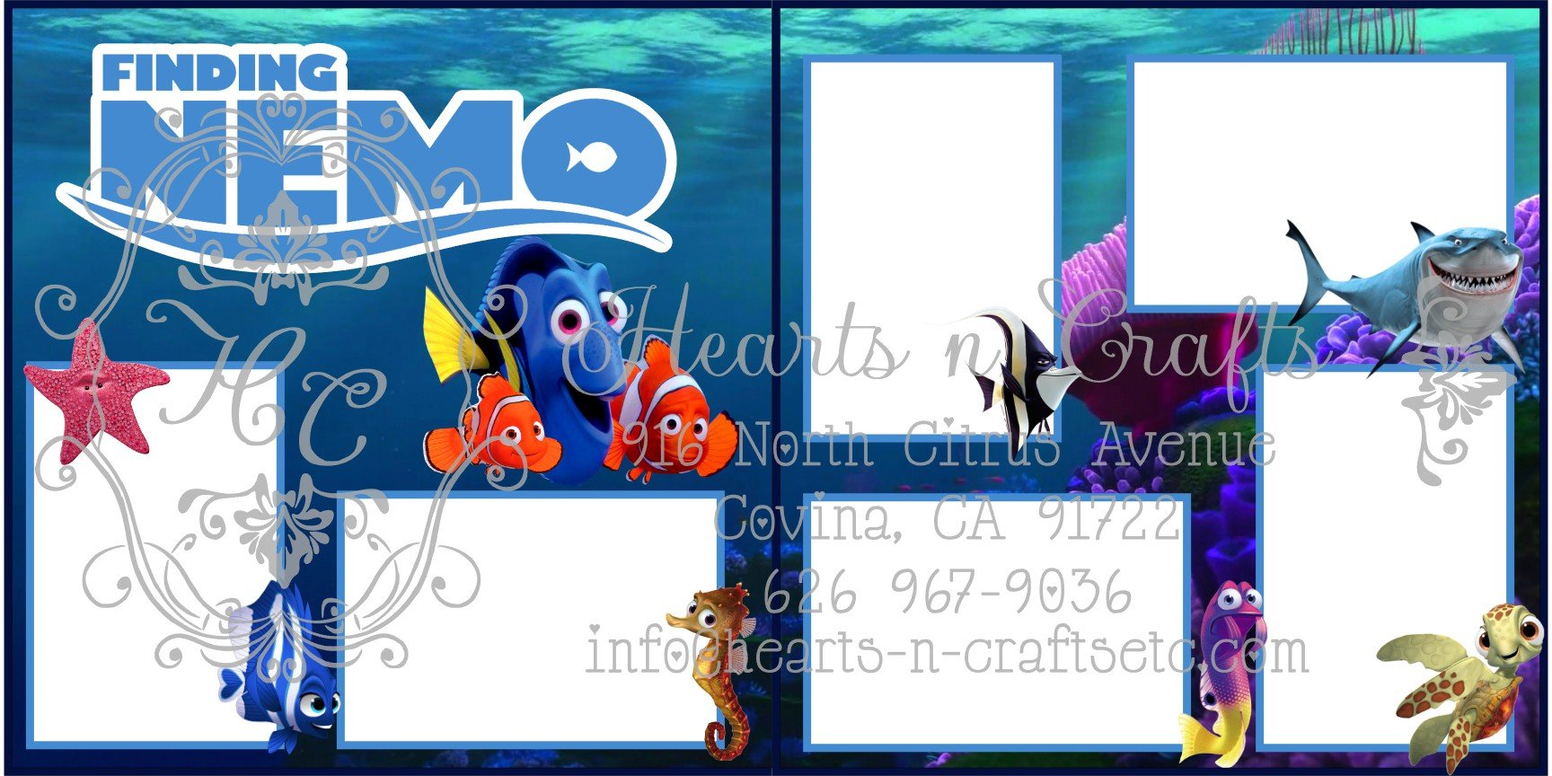 Finding Nemo  2 Page Layout