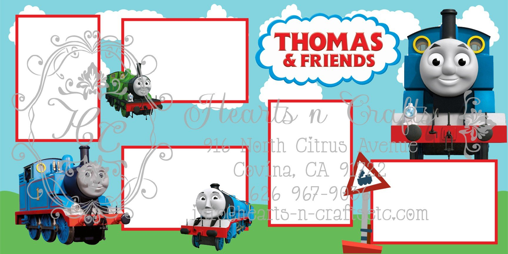 Thomas and Friends 2 Page Layout
