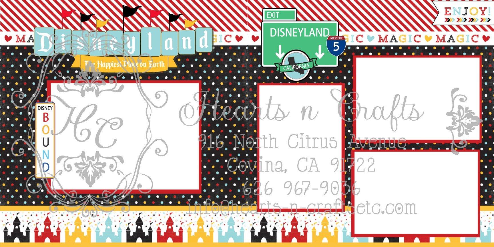 Anaheim Disneyland 2 Page Layout