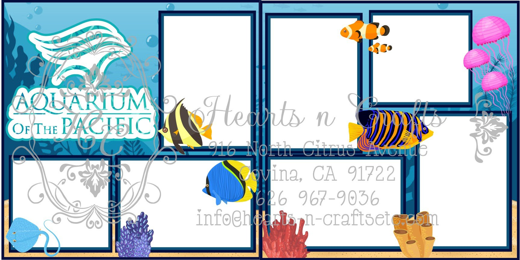 Aquarium of the Pacific 2 Page Layout