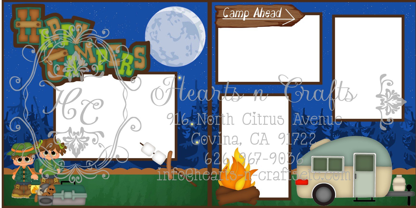 Camping 2 Page Layout