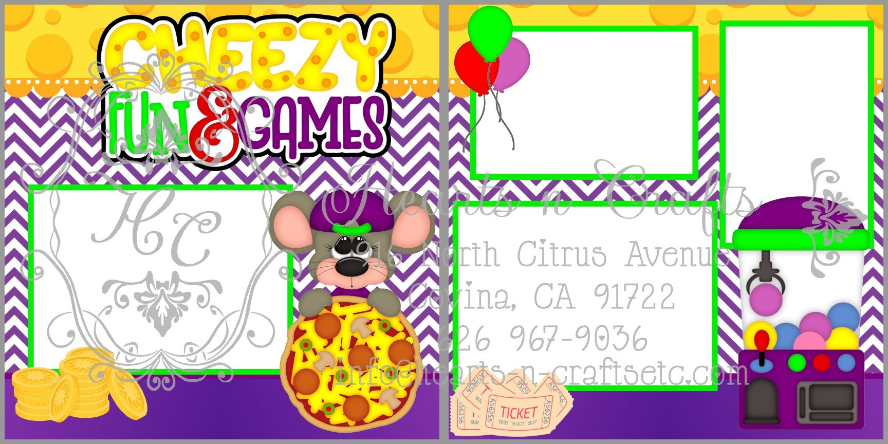 Cheezy Fun 2 Page Layout