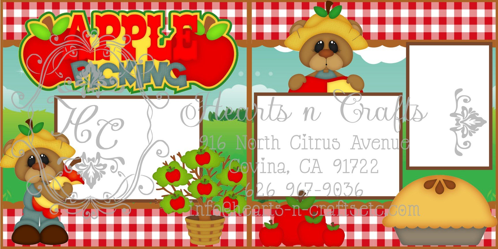 Apple Picking 2 Page Layout