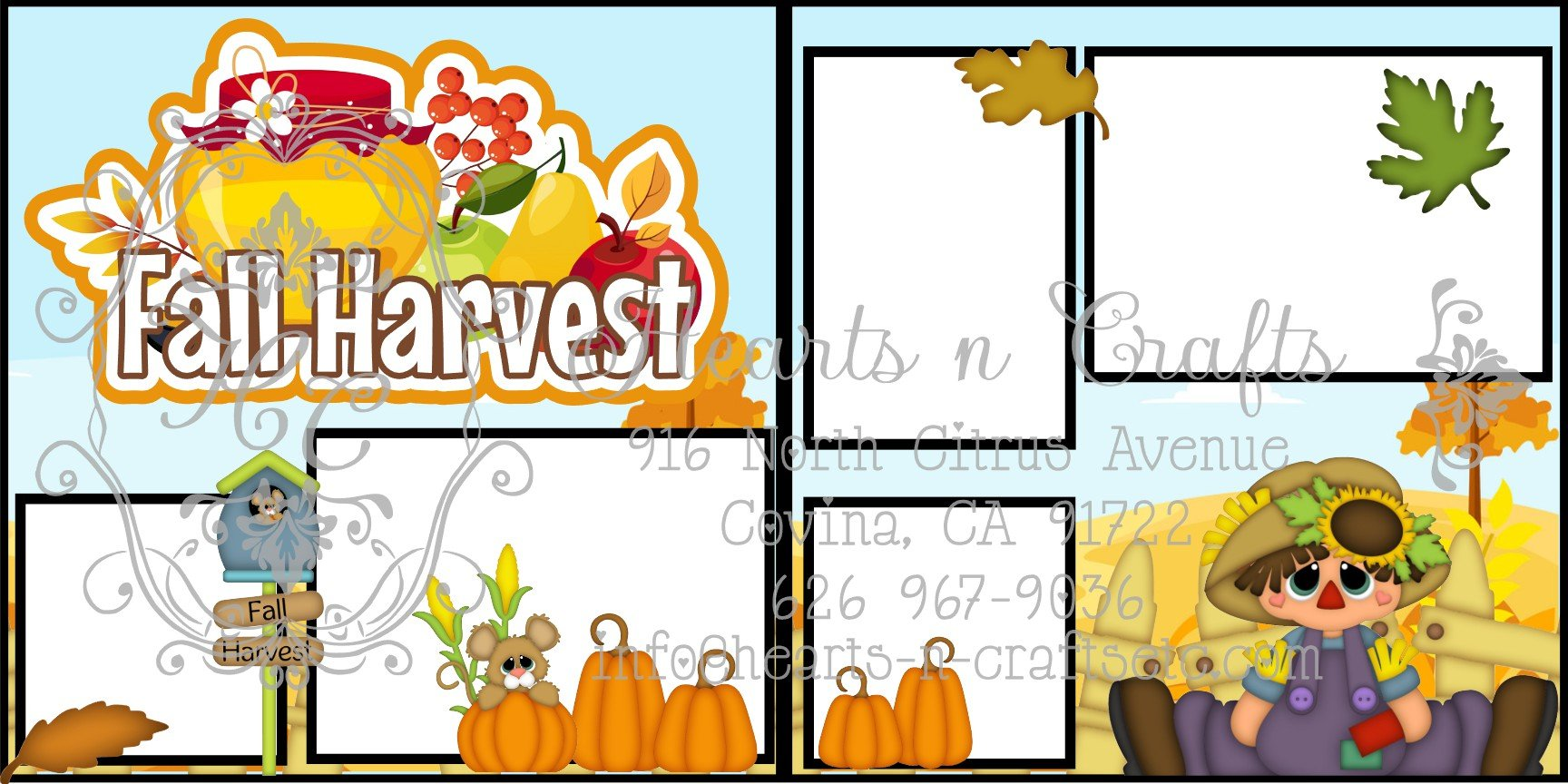 Fall Harvest 2 Page Layout