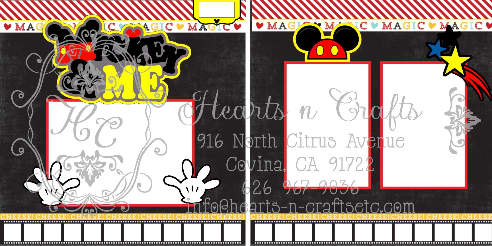 Mickey & Me 2 Page Layout