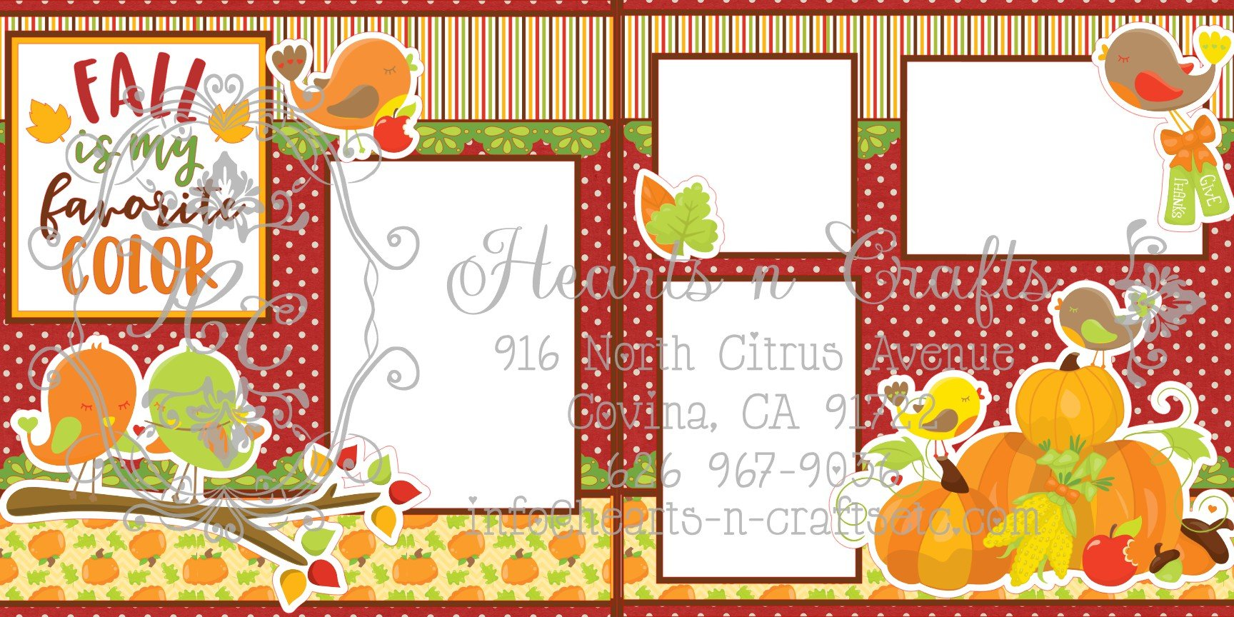 Fall is my favorite color 2 Page Layout