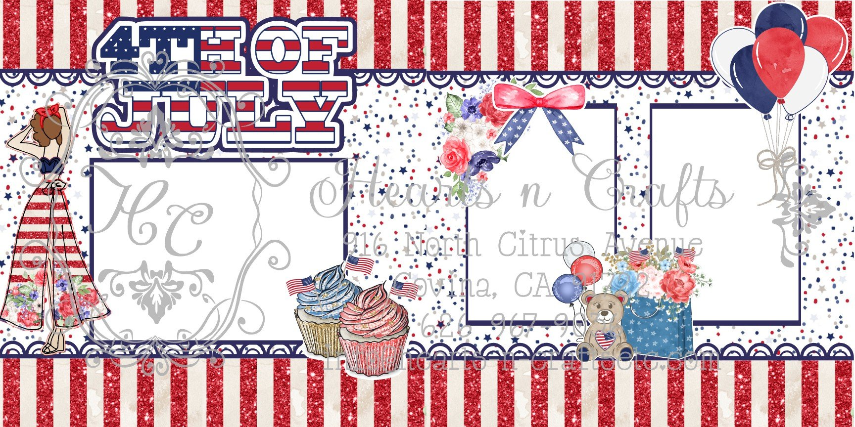 JN 4th of July 2 Page Layout