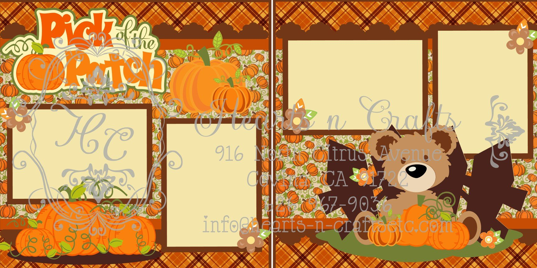 Pumpkin Patch 2 Page Layout