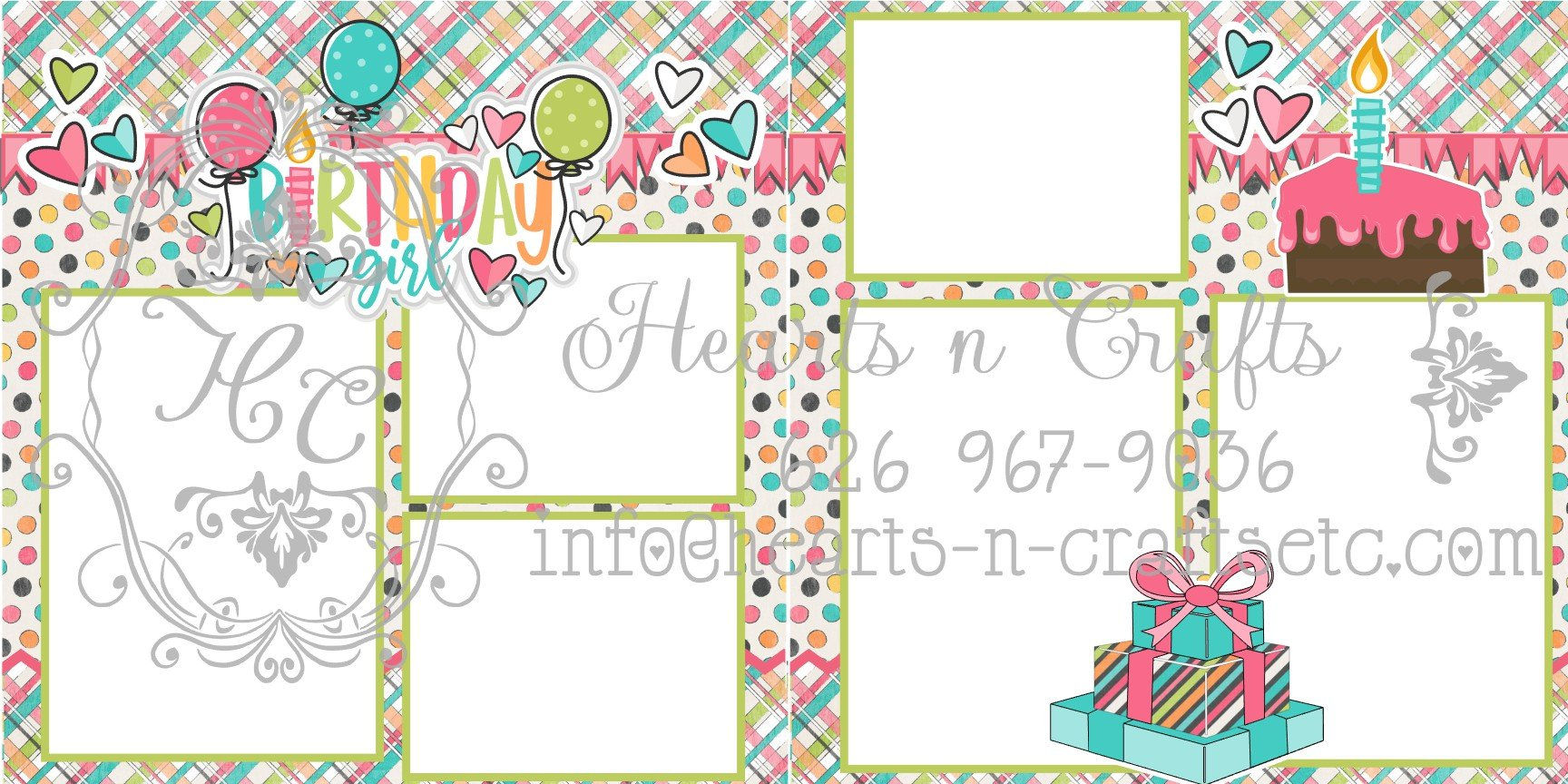 Birthday Girl 2 Page Layout
