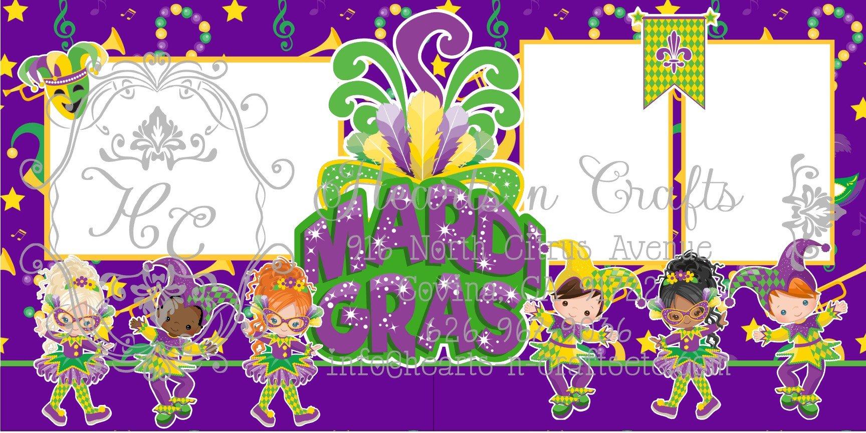 Mardi Gras 2 Page Layout