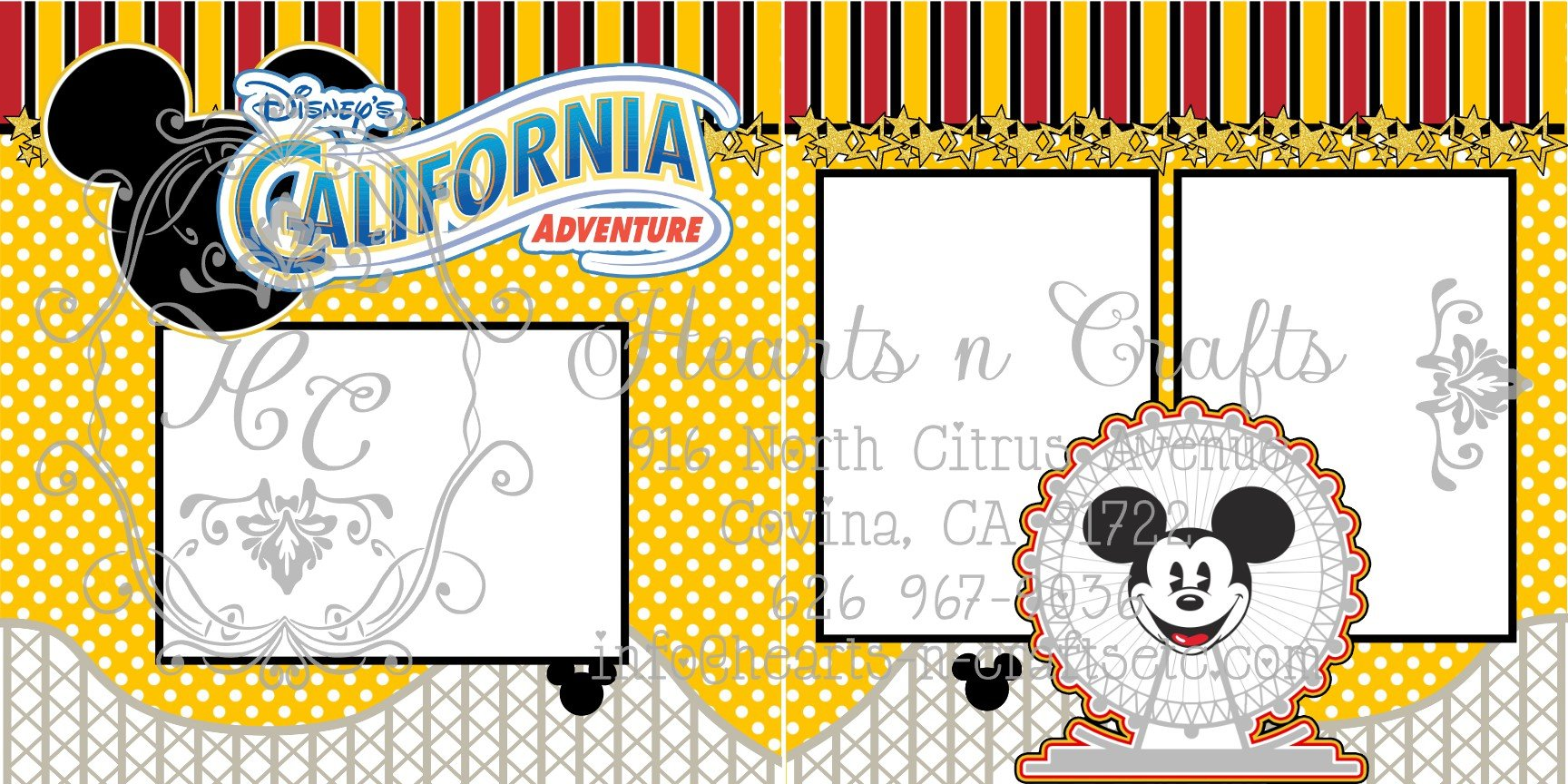 California Adventures 2 Page Layout