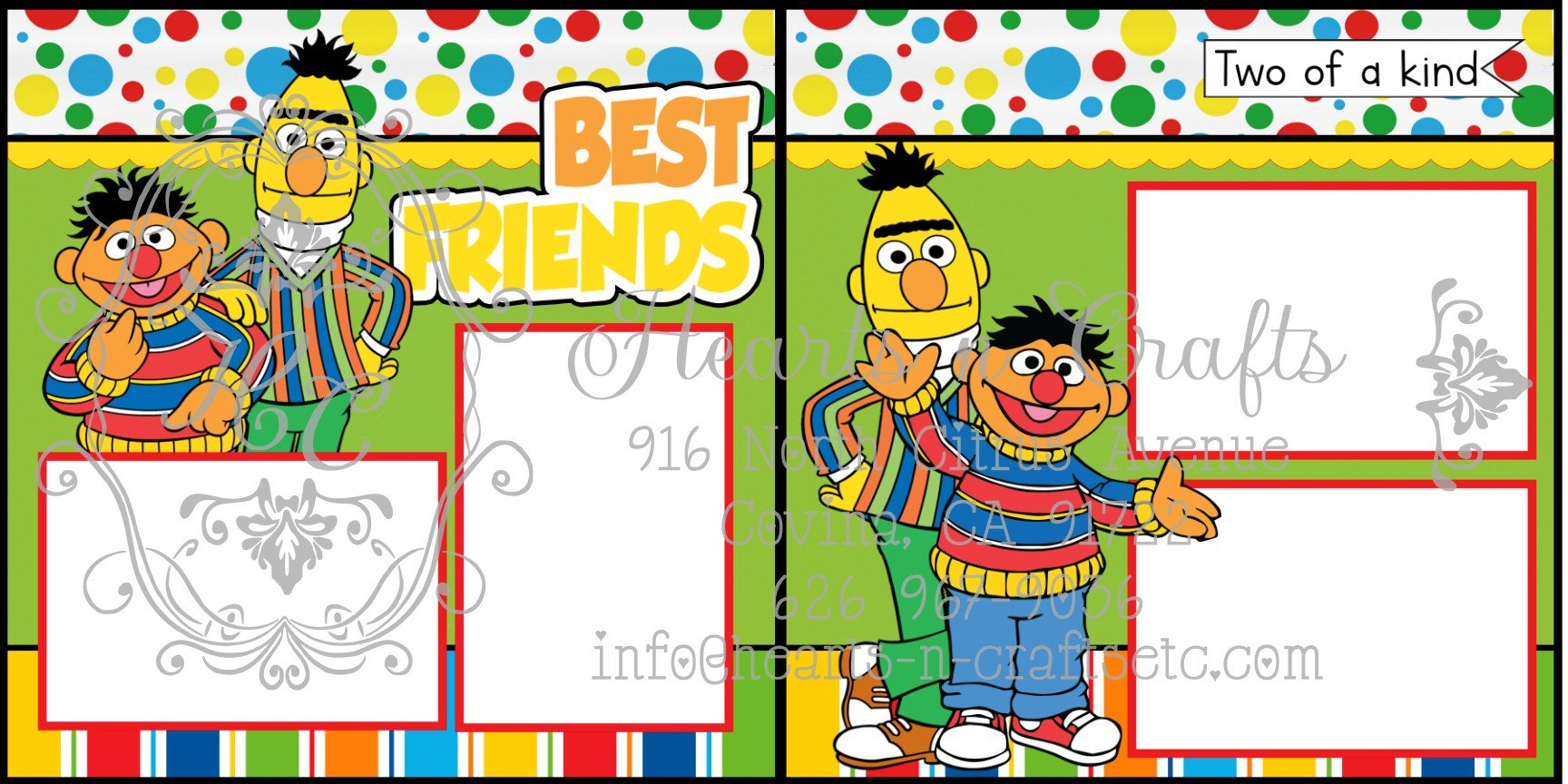 Bert and Ernie 2 Page Layout