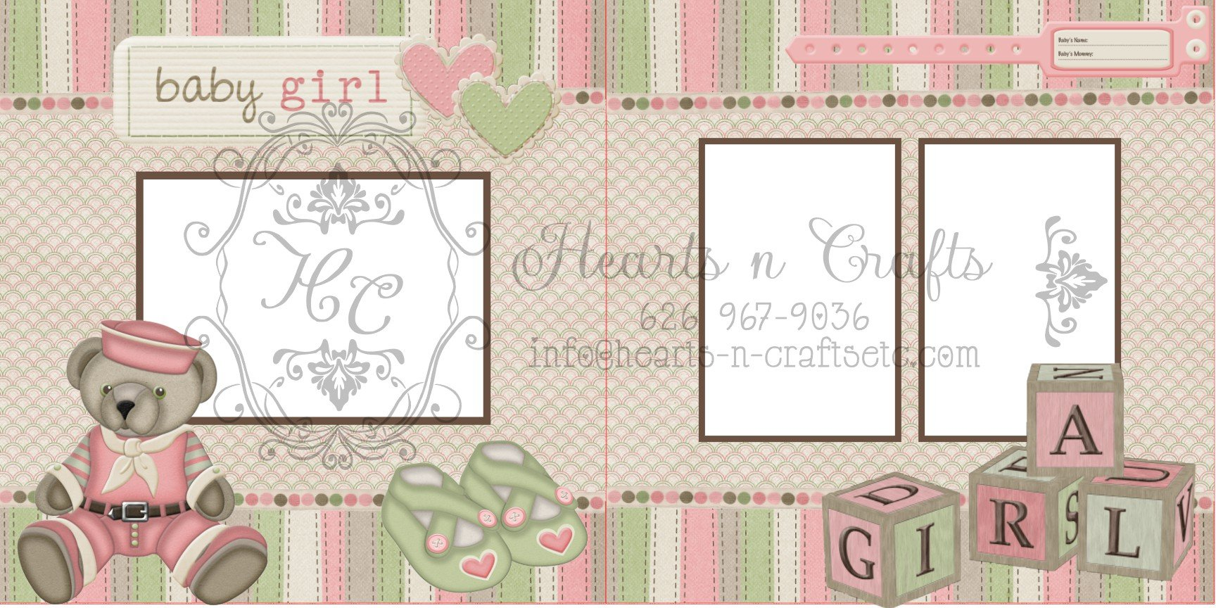 Baby Girl 2 Page Layout