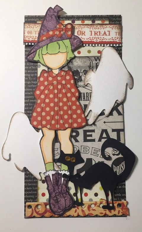 Lil Witch - Halloween Cat & Ghost