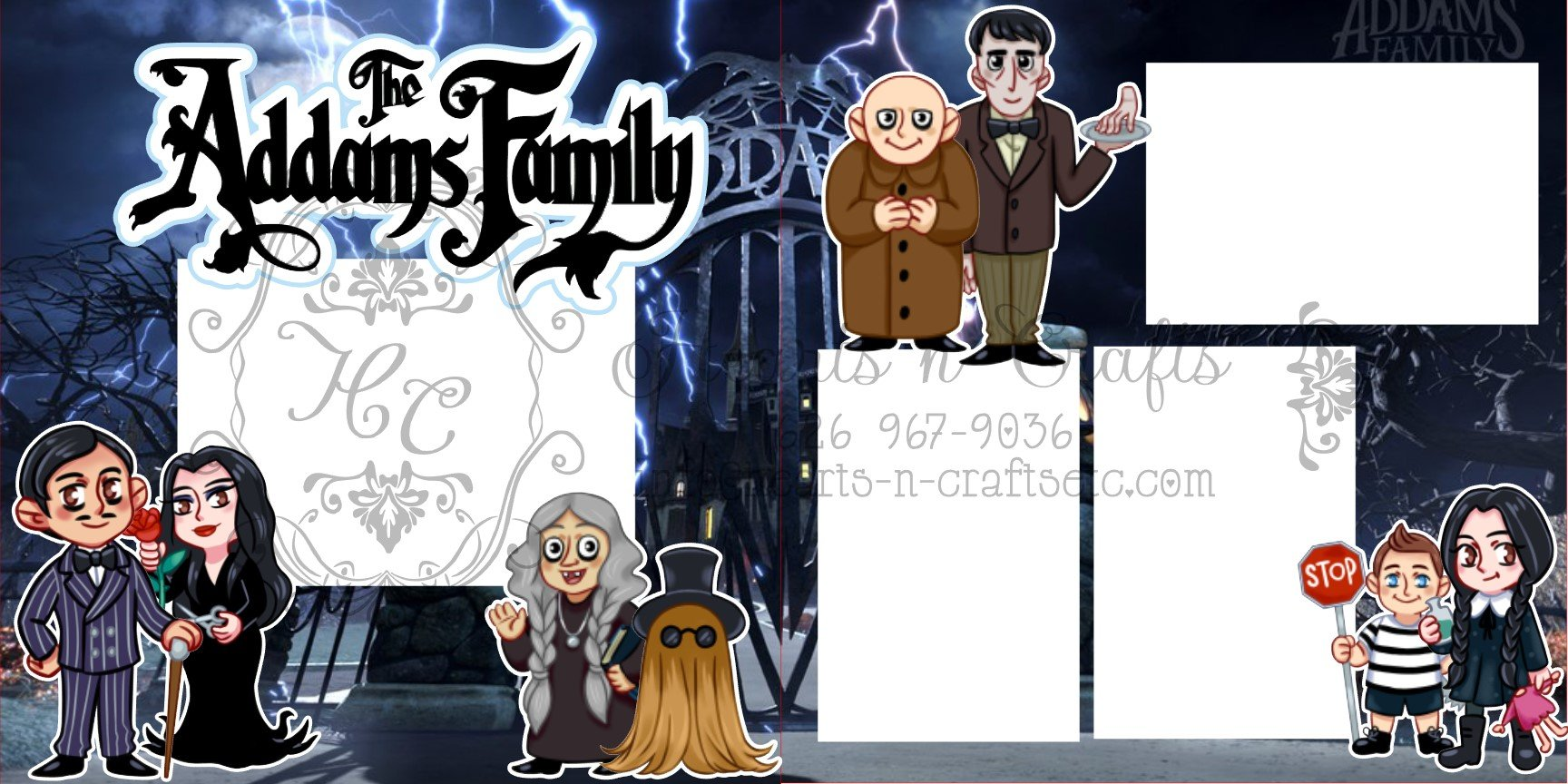Adam's Family - 2 page layout