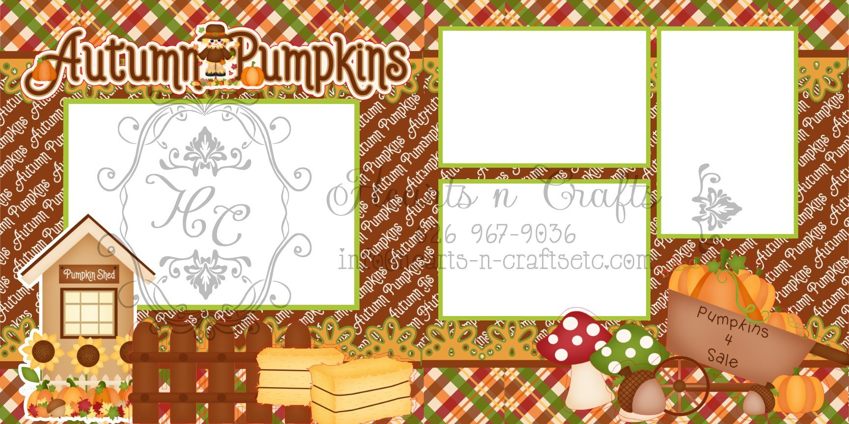 Fall Harvest - 2 Page Layout