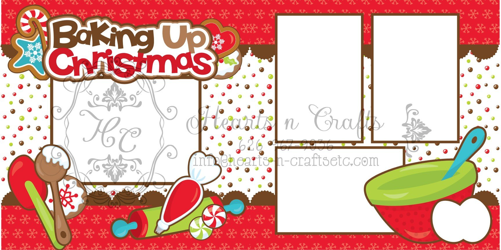 Baking up Christmas - 2 Page Layout