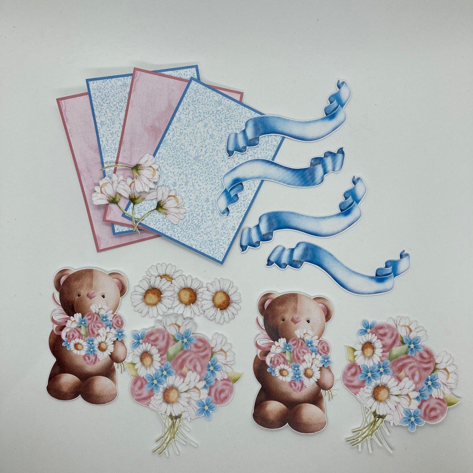 Bears and Flowers ATC kit
