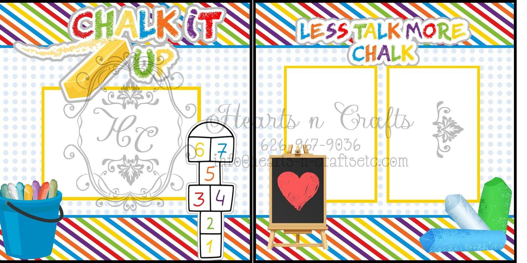Chalk it up - 2 Page Layout