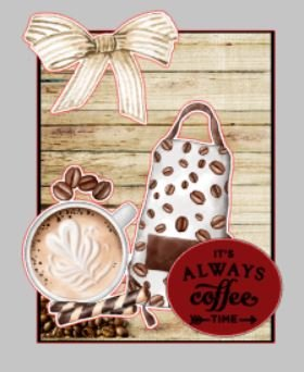 2 Card Kit - Coffee Theme - (card fronts only)