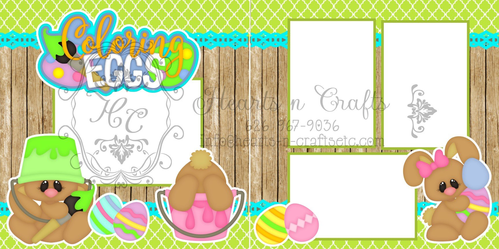 Coloring Eggs - 2 Page Layout