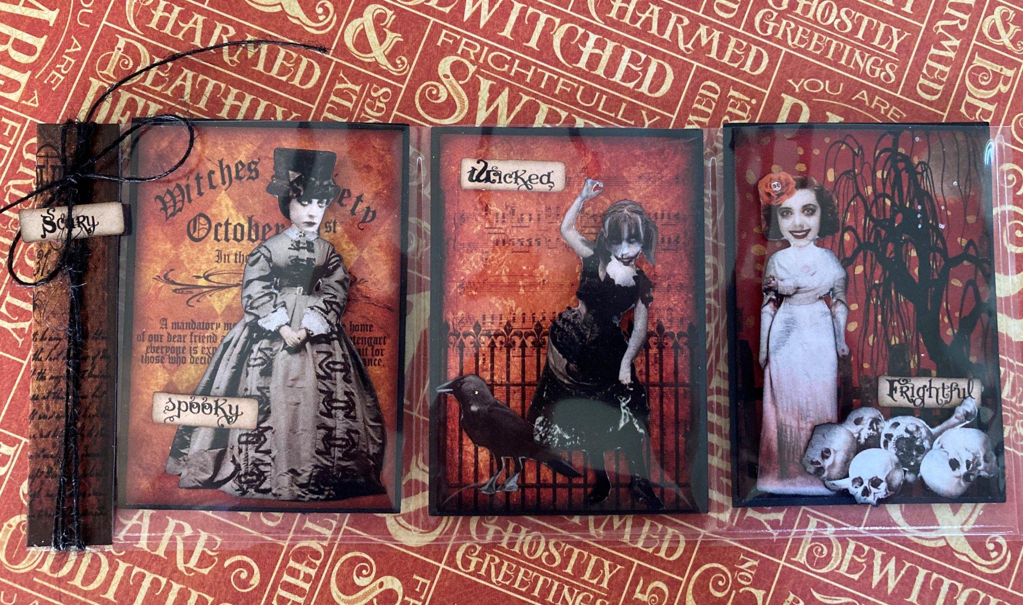 Freaky Ladies Mini Pocket Letter Halloween CMT kit