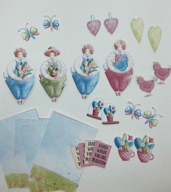 ATC kit - Ladies in the Garden