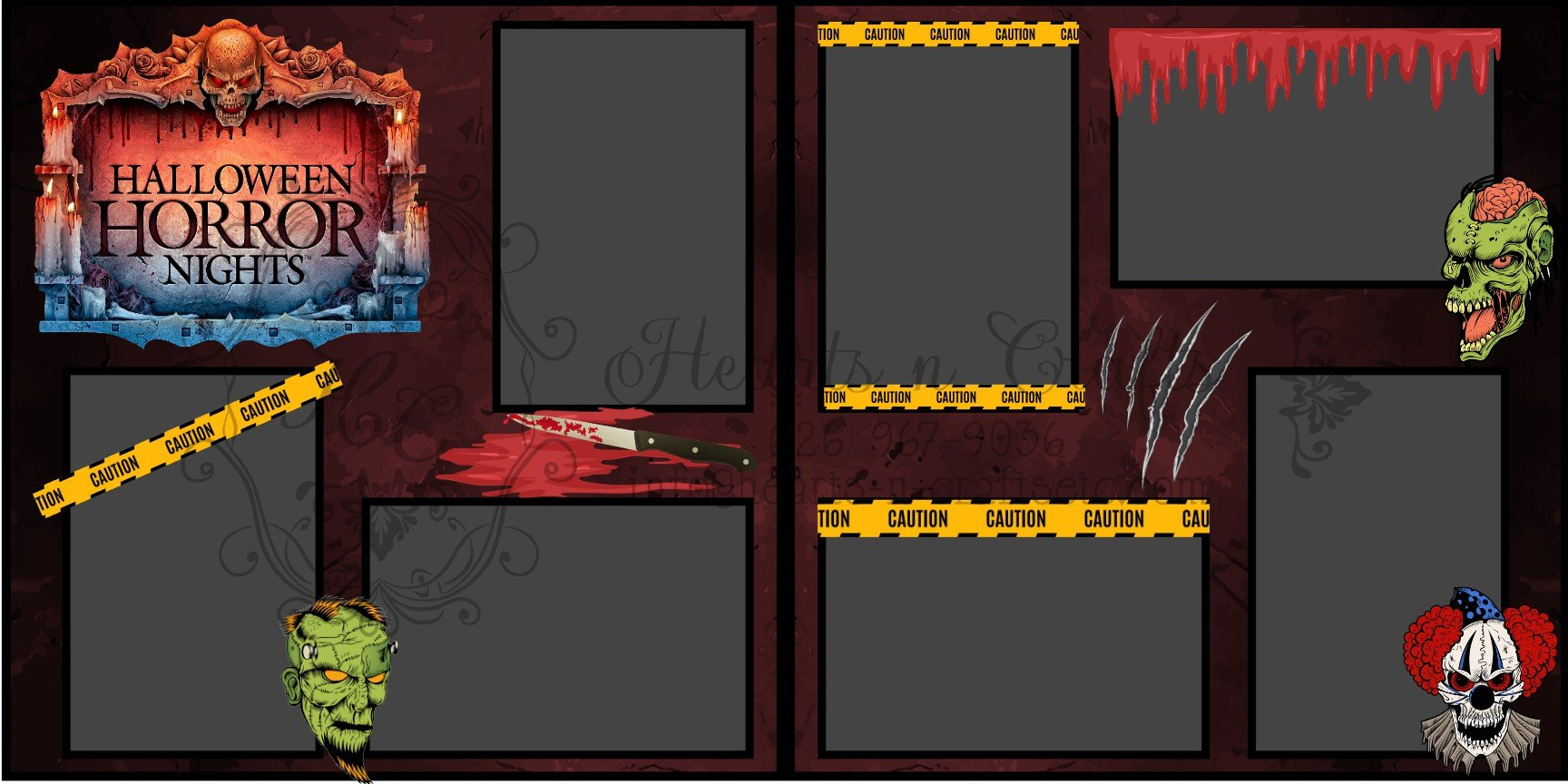 Halloween Horror Night 2 page layout