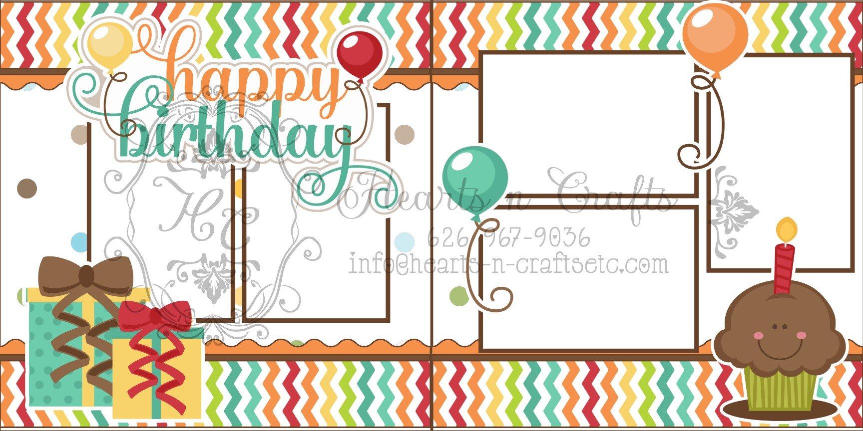 Happy Birthday - 2pg Layout