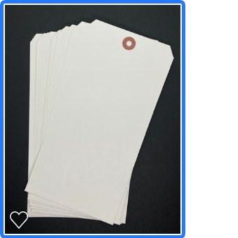 Twelve 4x8 White Heavyweight Tags