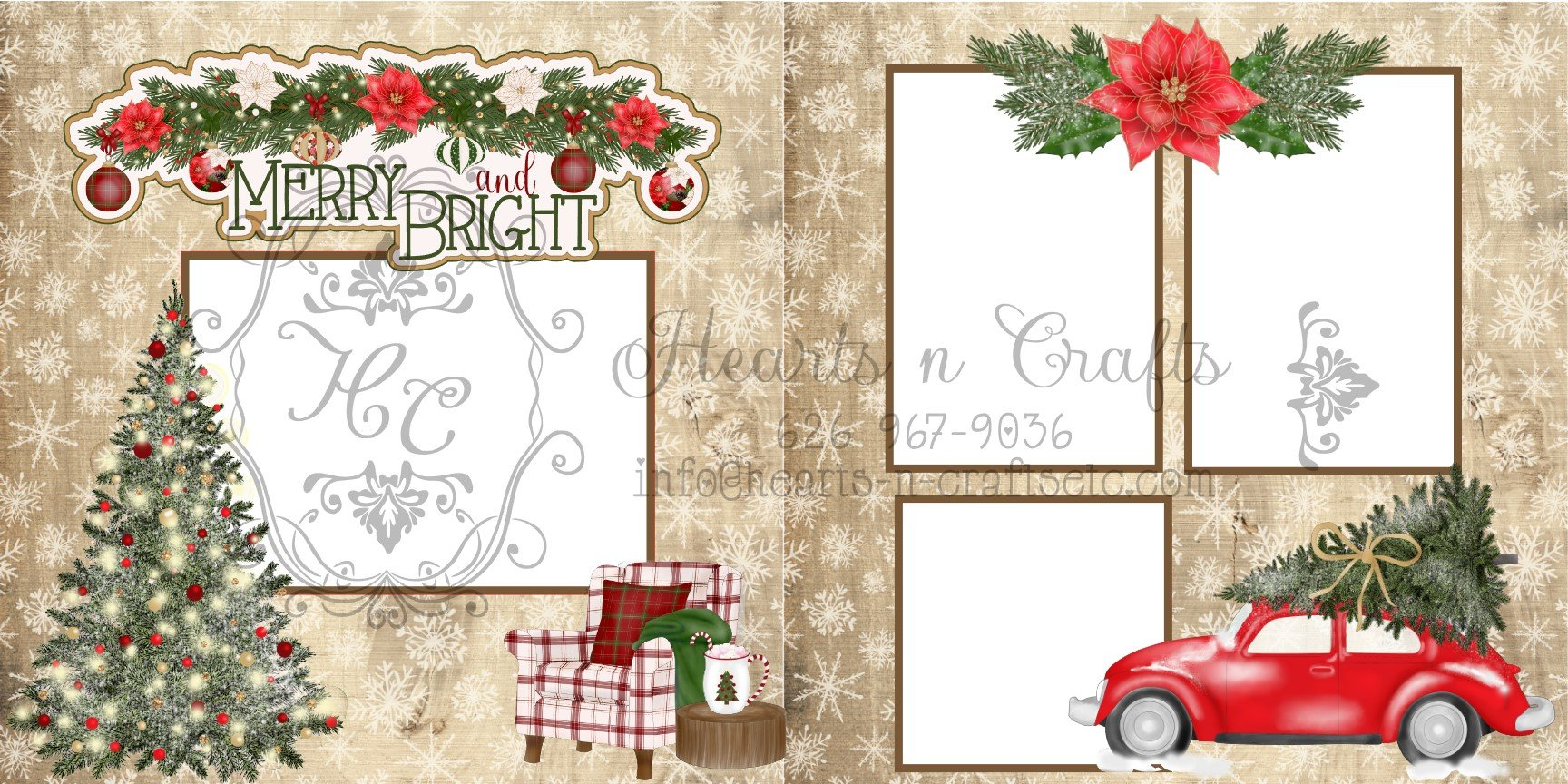 Merry & Bright two page layout