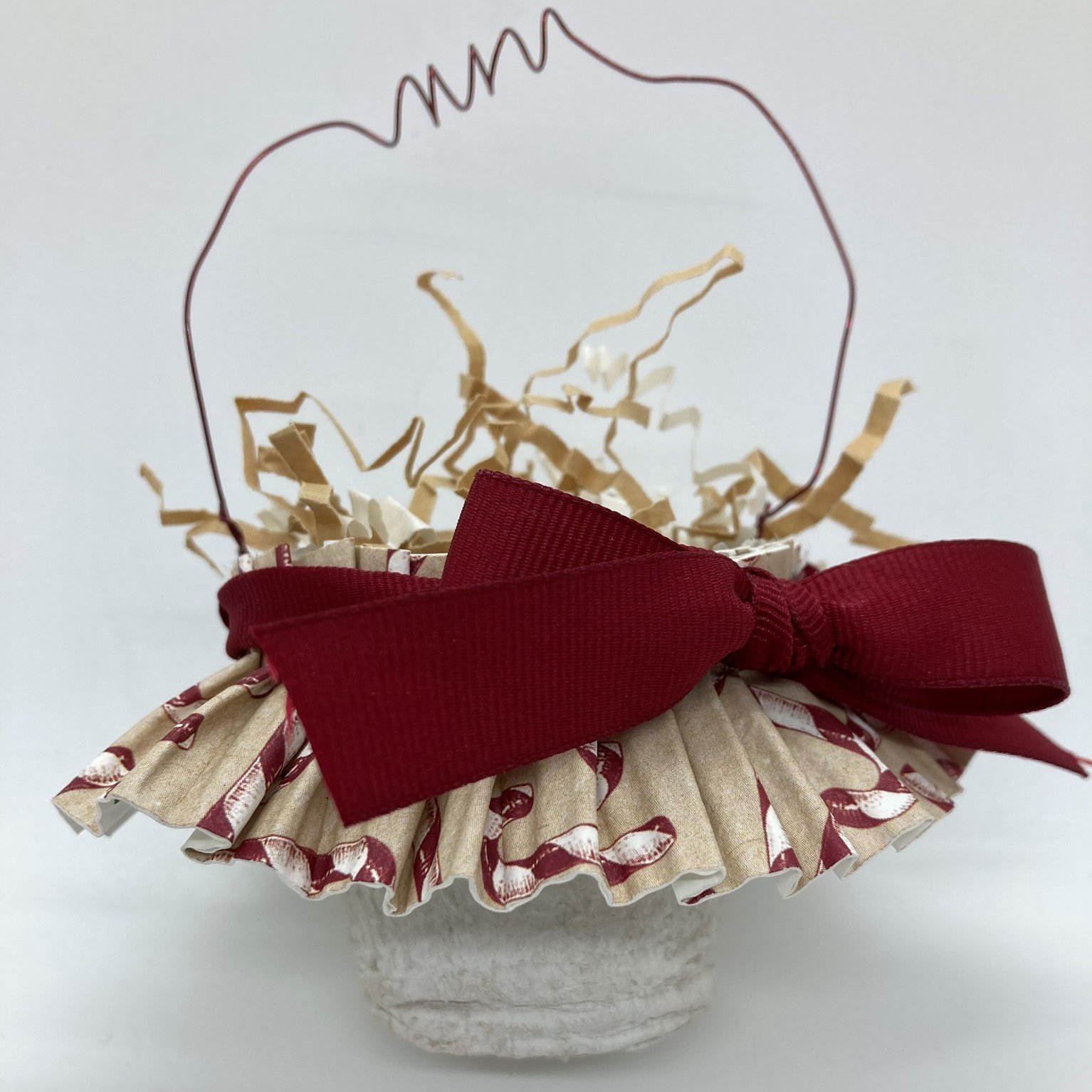Mini Basket with Wire Handle