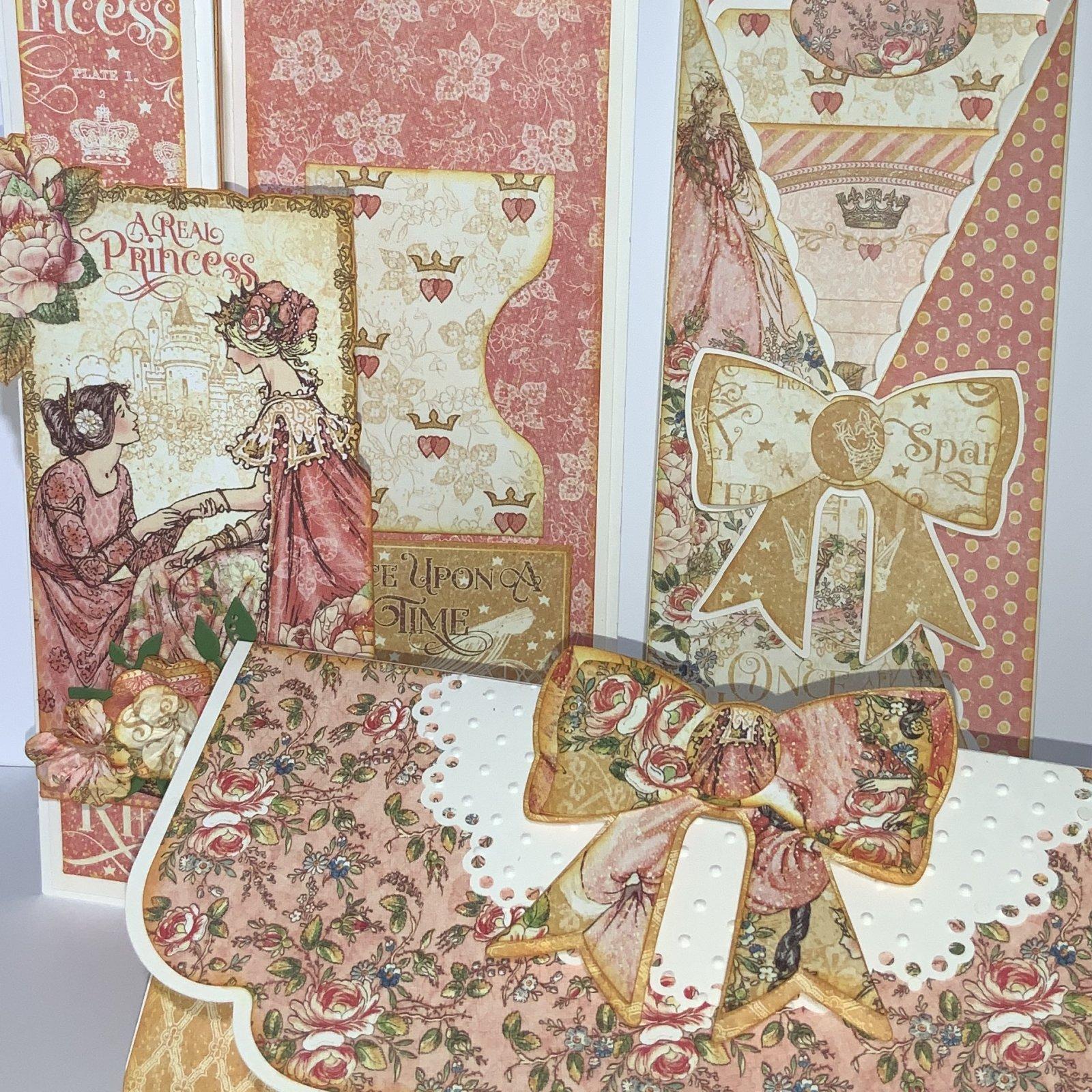 3 Card Kit - Slimline Graphic 45 Princess Set II