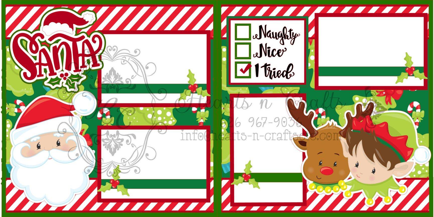 Santa - I Tried 2 page layout