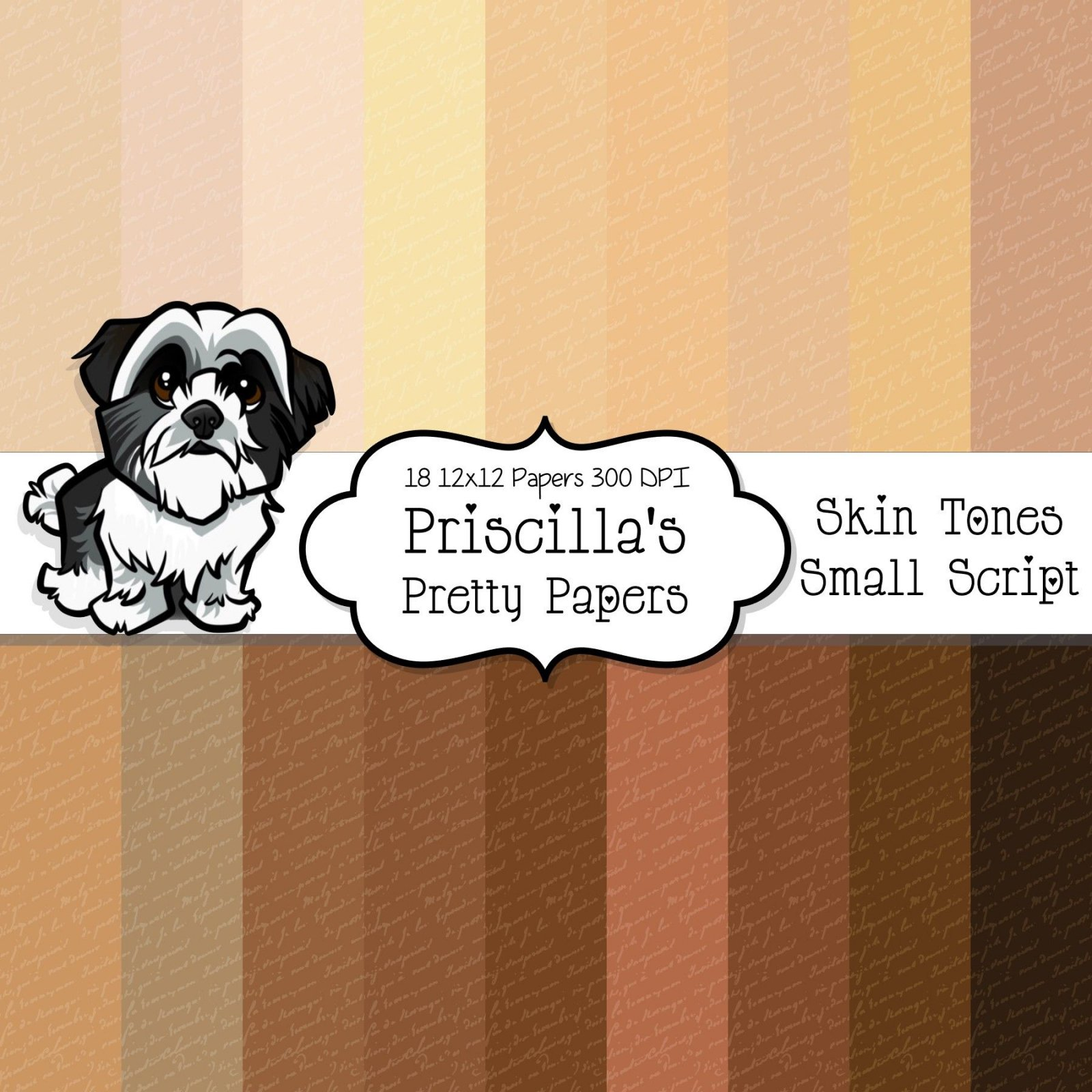 Skin Tones - Small Script digital download