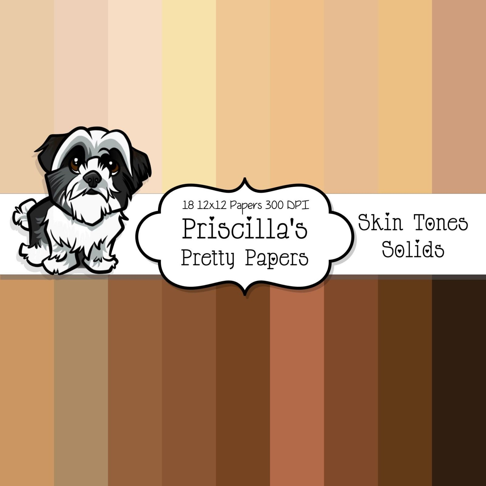 Skin Tones - Solid digital download
