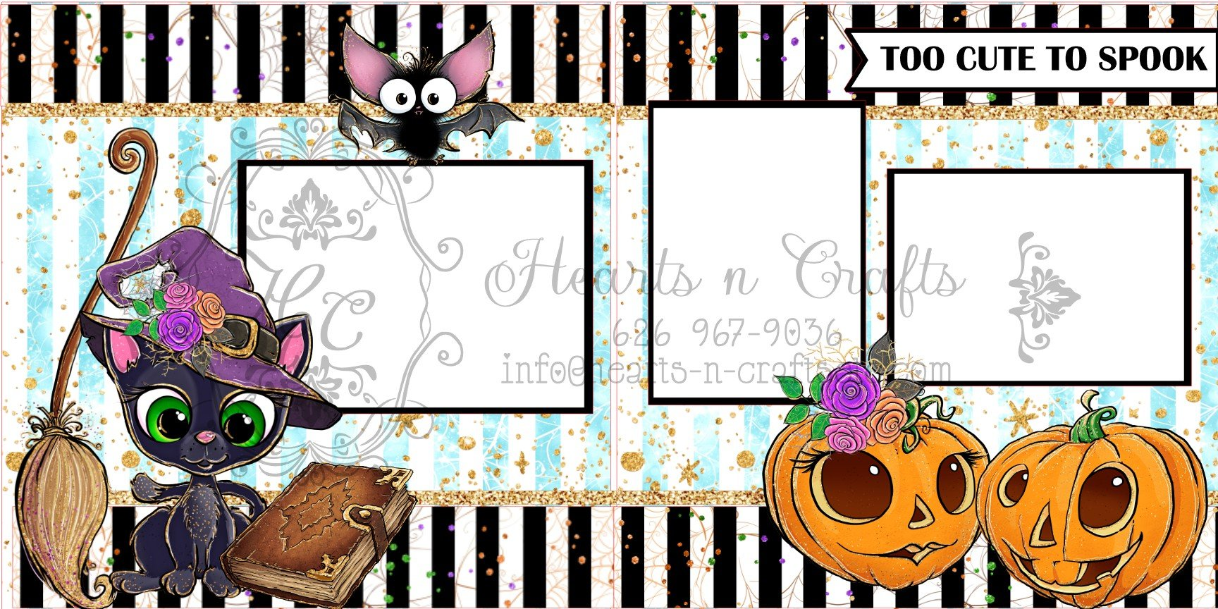 Too Cute to Spook 2 page Layout