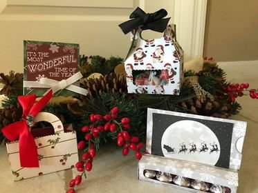 Four holiday treat boxes kit