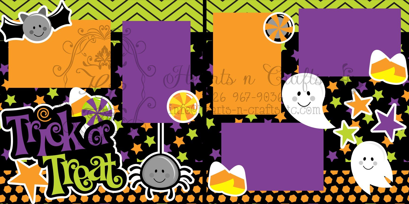 Trick or Treat 2 page layout