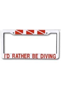 I'D RATHER BE DIVING / LICENSE