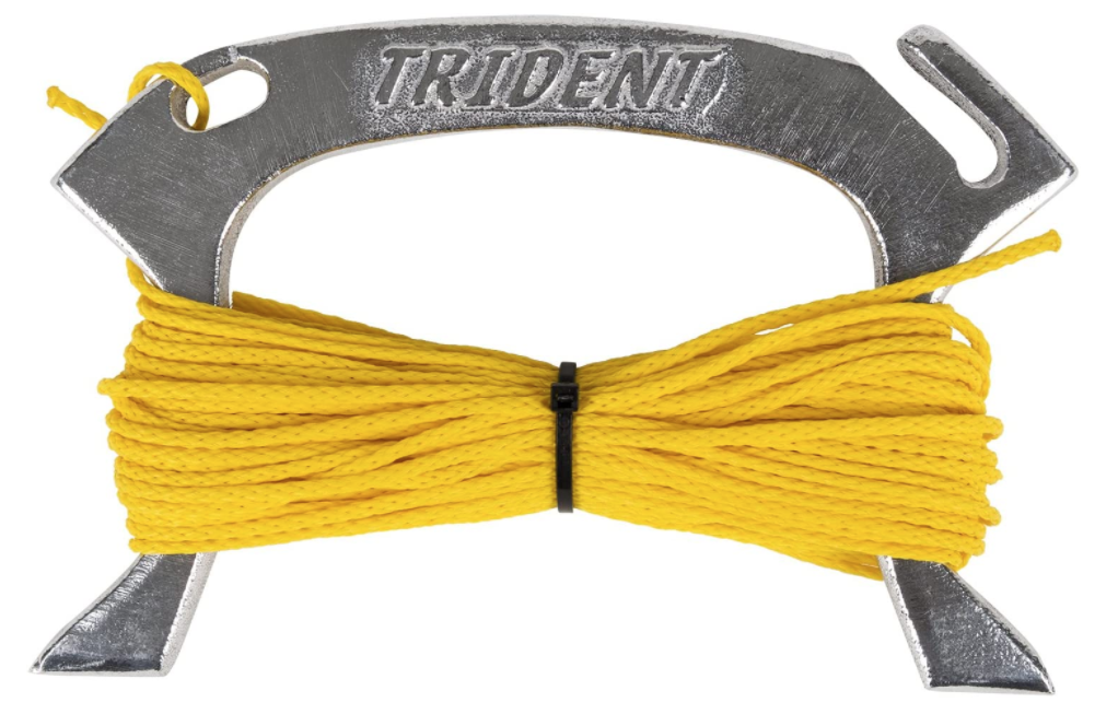 Trident - Aluminum Line Holder with 75 ft. of 1/8 poly line