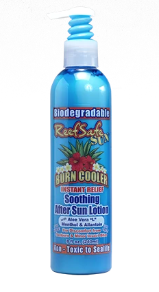 ReefSafe - Biodegradable Burn Cooler Soothing AfterSun Lotion with Aloe Vera, Menthol, and Allantoin