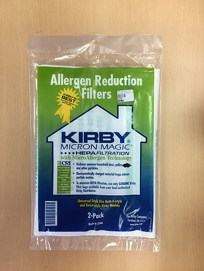 Kirby Universal F-Style and Twist-Style Micro-Allergen Bags - 2 pack