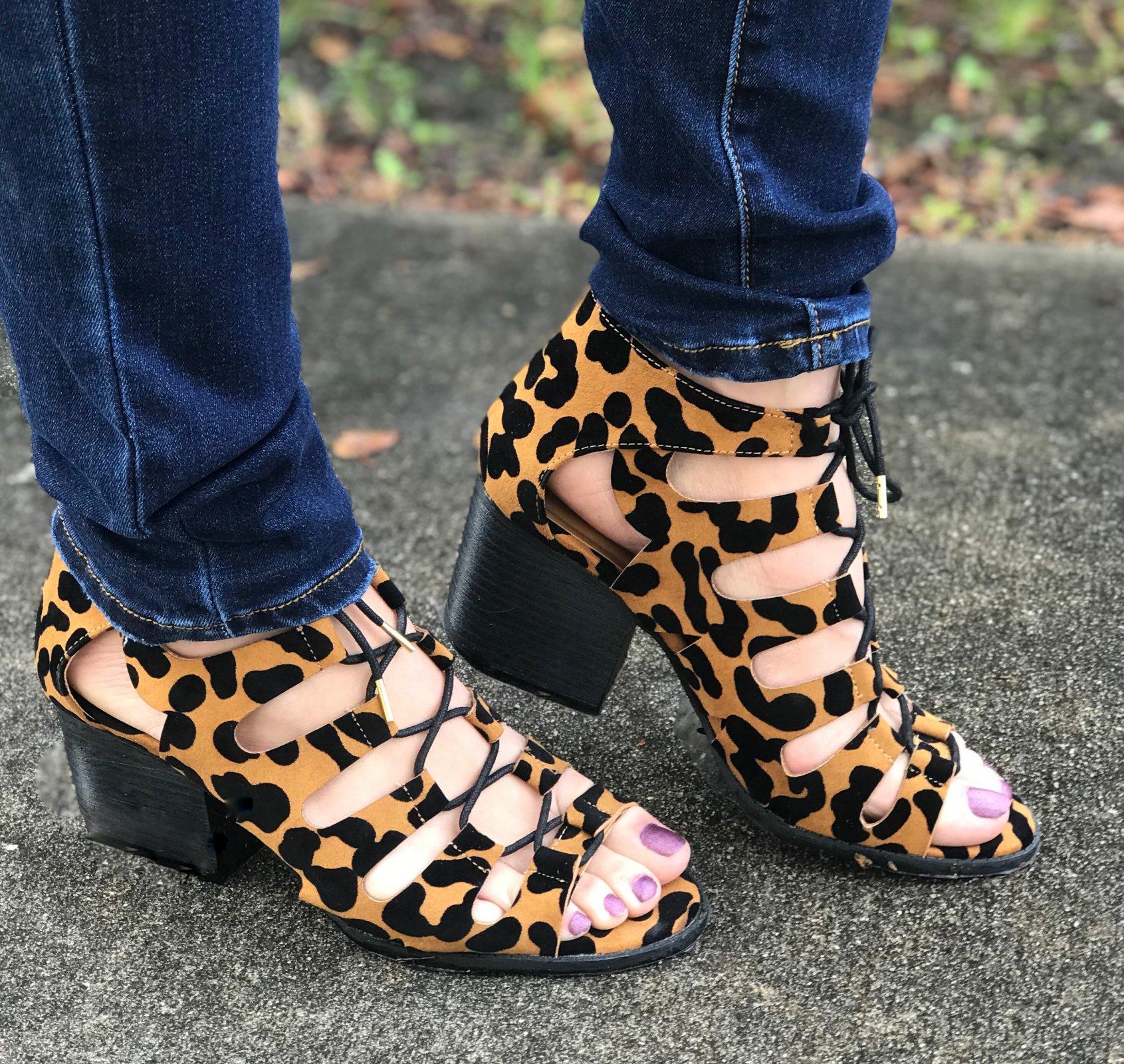 Leopard Tie Booties