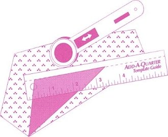 Add-A-Quarter 6 Pink Ruler with specially designed 1/4 tip!