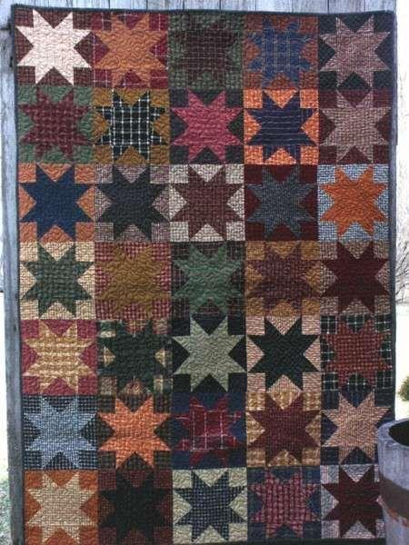 Opposites Attract Star Quilt Pattern