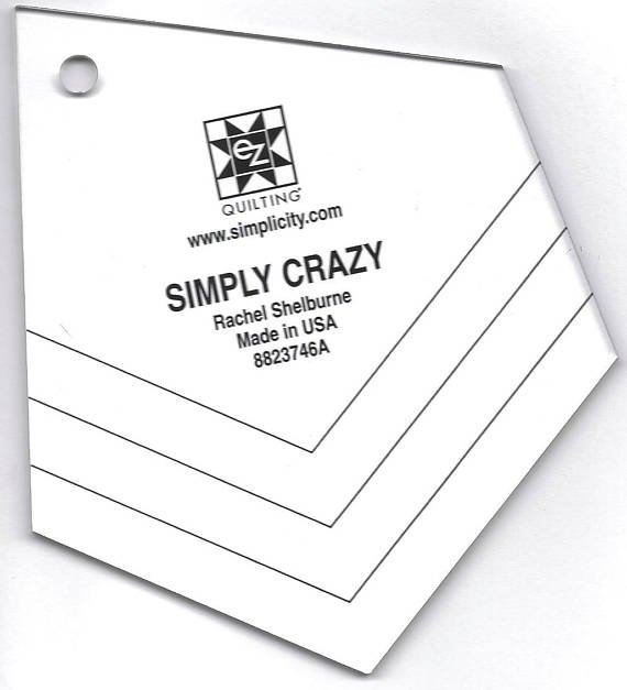 Simply Crazy Quilt Template - by Rachel Shelburne